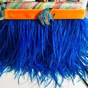 Handbags - Ostrich Feather Fish Evening Bag